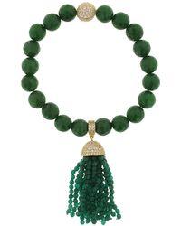 Cosanuova - Jade Tassel Bracelet - Lyst