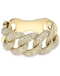 Anne Sisteron Yellow Gold Luxe Light Diamond Chain Link Ring