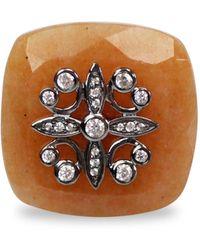 Bellus Domina Sterling Silver Aventurine Ring - Multicolour