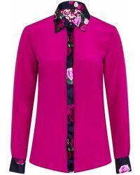Sophie Cameron Davies Berry Pink Rose Silk Shirt