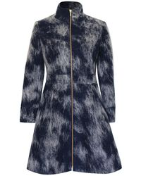 Philosofée - Mohair Wool Coat Navy - Lyst