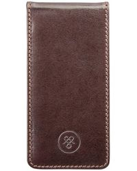 Maxwell Scott Bags - Luxury Iphone 5/5s Brown Leather Flip Case For Cell Phone Renato - Lyst