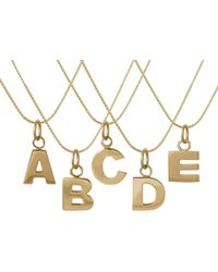 Edge Only Letter Necklace In Gold - Metallic