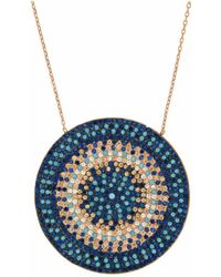 Cosanuova - Multicolor Flat Disc Necklace - Lyst