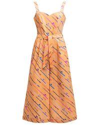 TOMCSANYI Sullo Cotton Jumpsuit 'fishing Rod' - Orange