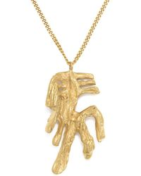 Loveness Lee - Chinese Zodiac Pig Horoscope Gold Pendant Necklace - Lyst