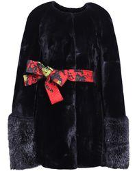 Ardent & Co - Black Faux Mink Fur Cape - Lyst