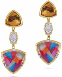 LMJ - Colorful Canvas Earrings - Lyst