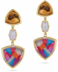 LMJ Colorful Canvas Earrings - Metallic