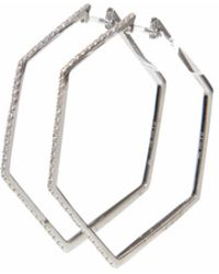Ri Noor - Angular Top Diamond Earrings - Lyst