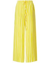 Kalmar Ayah Yellow Brush Stripe Trousers