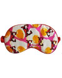 Jessica Russell Flint E For Eggs Silk Eye Mask - Multicolour