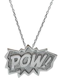 Edge Only - Pow Pendant Extra Large In Silver - Lyst