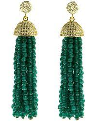 Cosanuova - Sterling Silver Jade Tassel Earrings In Yellow - Lyst