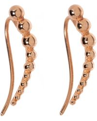 Durrah Jewelry Bead Ear Climber In Rose Gold - Multicolor