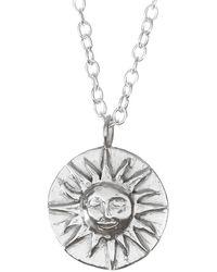 Lucy Flint Jewellery Sun Disc Necklace - Metallic