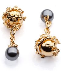 Kasun Orb And Pearl Cufflinks - Metallic