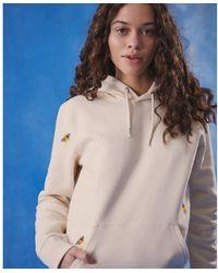 INGMARSON Bee Embroidered Hoodie Ecru Women - Multicolour