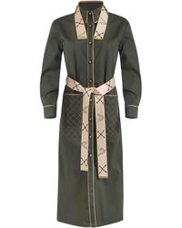 Thale Blanc Beverly Quilted Coat Dress - Green