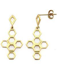 MONARC JEWELLERY - The Vita Hive Earrings 9ct Gold - Lyst