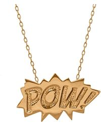 Edge Only - Pow Pendant Large Long In Gold - Lyst