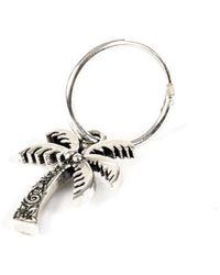 Serge Denimes Silver Palm Tree Earring - Metallic