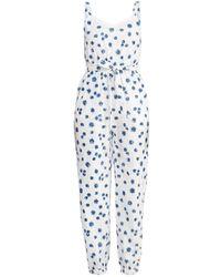 Em & Shi Ivory Daisy Day Jumpsuit - White