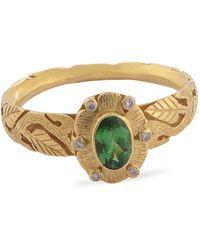 Emma Chapman Jewels Bria Tsavorite Diamond Ring - Green