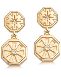 Astley Clarke Celestial Dial Drop Earrings - Metallic