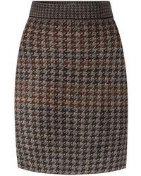 STUDIO MYR Pied-de-poule Knee Length Pencil Skirt - Grey