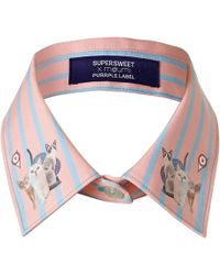 Supersweet x Moumi - Candy Stripe Collar Pink - Lyst