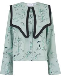 Klements Sailor Shirt In Printed Old Neptune - Multicolour