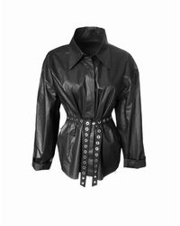 ARSHYS Charcoal Shirt-jacket - Black