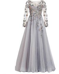 MATSOUR'I - Couture Dress Charleen Grey - Lyst