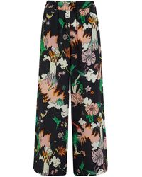 Klements Pluto Pants In Silk Watchtower Print - Multicolour