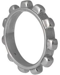 Edge Only Worry Ring Mens Silver | A Gear Shaped Ring Designed For Fidgeters - Metallic