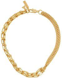 Coup de Coeur London Gold Mixed Chain Necklace - Metallic