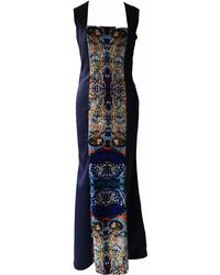 Jennifer Rothwell Harry Clarke Two Faces Print Dress - Blue