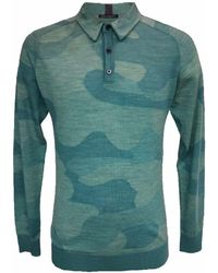 lords of harlech Peter Polo In Woolcamo Teal - Green