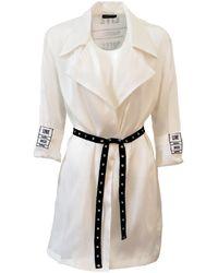 ARSHYS Sheer Silk Organza Jacket - White