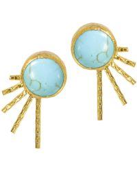 Ottoman Hands - Sunburst Turquoise Stud Earrings - Lyst