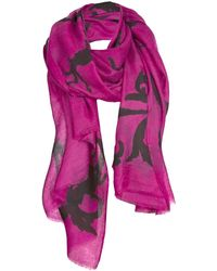 Asneh Lola Cashmere Scarf In Pink & Black