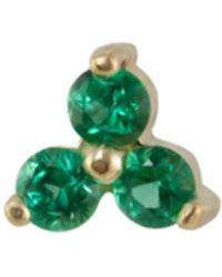 Irena Chmura Jewellery Clover Emerald Stud Single - Green