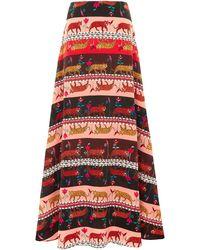 Hayley Menzies Silk Maxi Skirt - Red