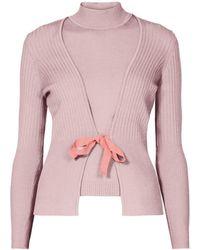Rumour London Erika And Erin Powder Pink Two-piece Merino Wool Set