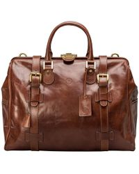 Maxwell Scott Bags - Medium Tan Leather Gladstone Travel Bag Gassano - Lyst