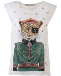 The Extreme Collection White Anne Bonny Leopard T-shirt