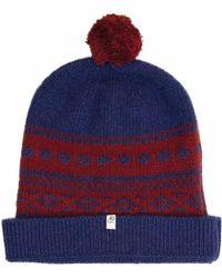 40 Colori - Red & Blue Norwegian Wool & Cashmere Beanie - Lyst