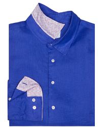 Pink House Mustique - Mens Linen Shirt Dazzling Blue - Lyst