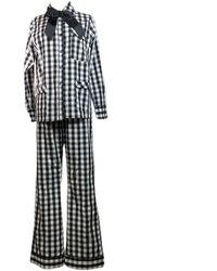 Lotte.99 Check Pyjamas - Black